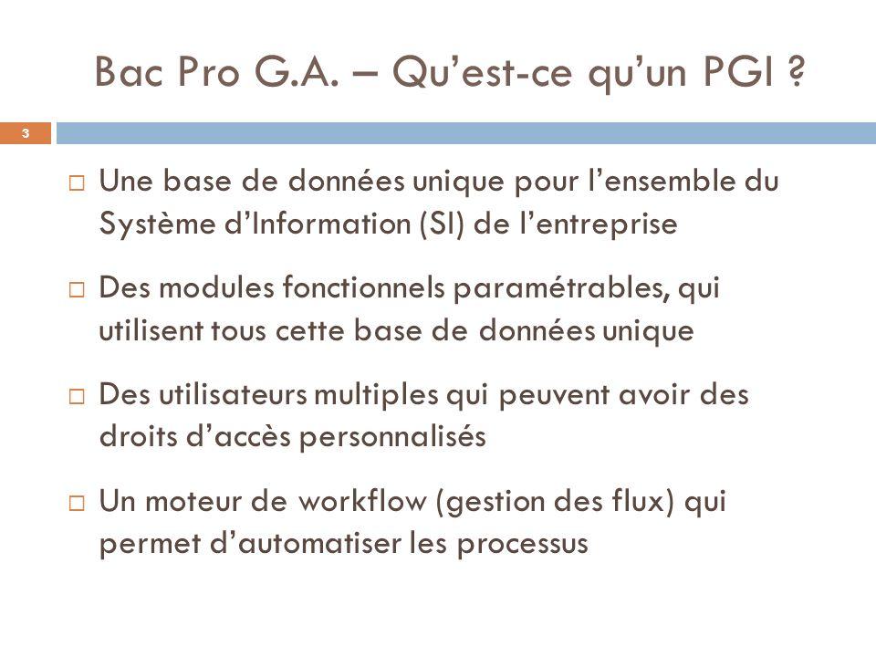 Bac Pro G.A.– Quest-ce quun PGI .
