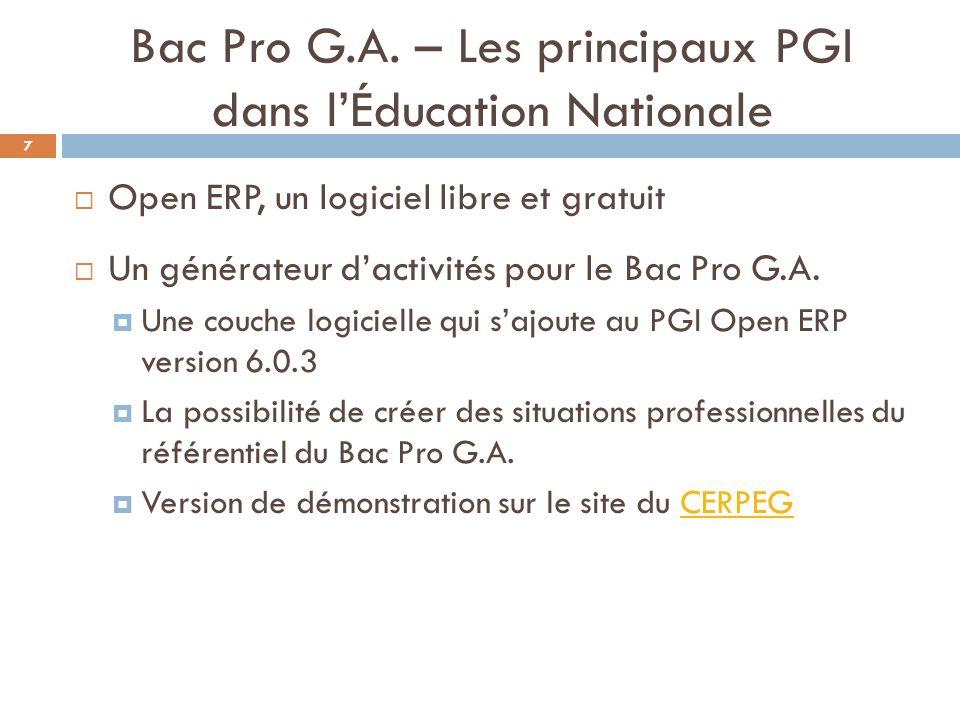 Bac Pro G.A.