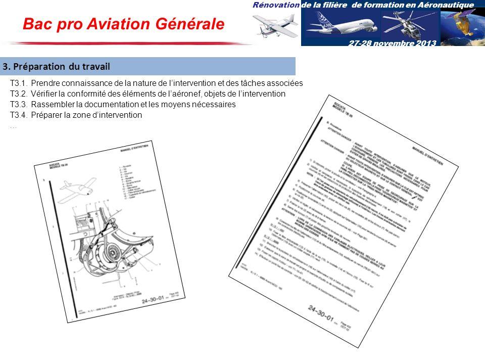 Rénovation de la filière de formation en Aéronautique 27-28 novembre 2013 3. Préparation du travail T3.1. Prendre connaissance de la nature de linterv