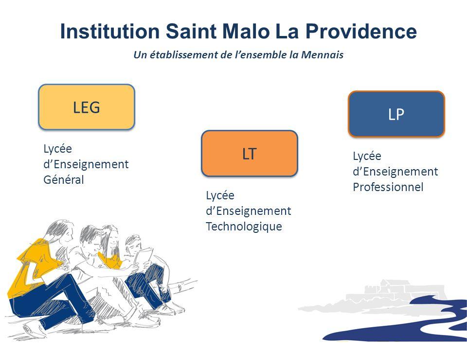 Institution Saint Malo La Providence Un établissement de lensemble la Mennais Lycée dEnseignement Général LEG Lycée dEnseignement Technologique LT Lyc