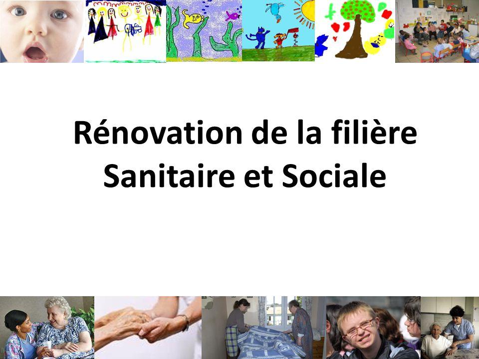 Rénovation de la filière Sanitaire et Sociale