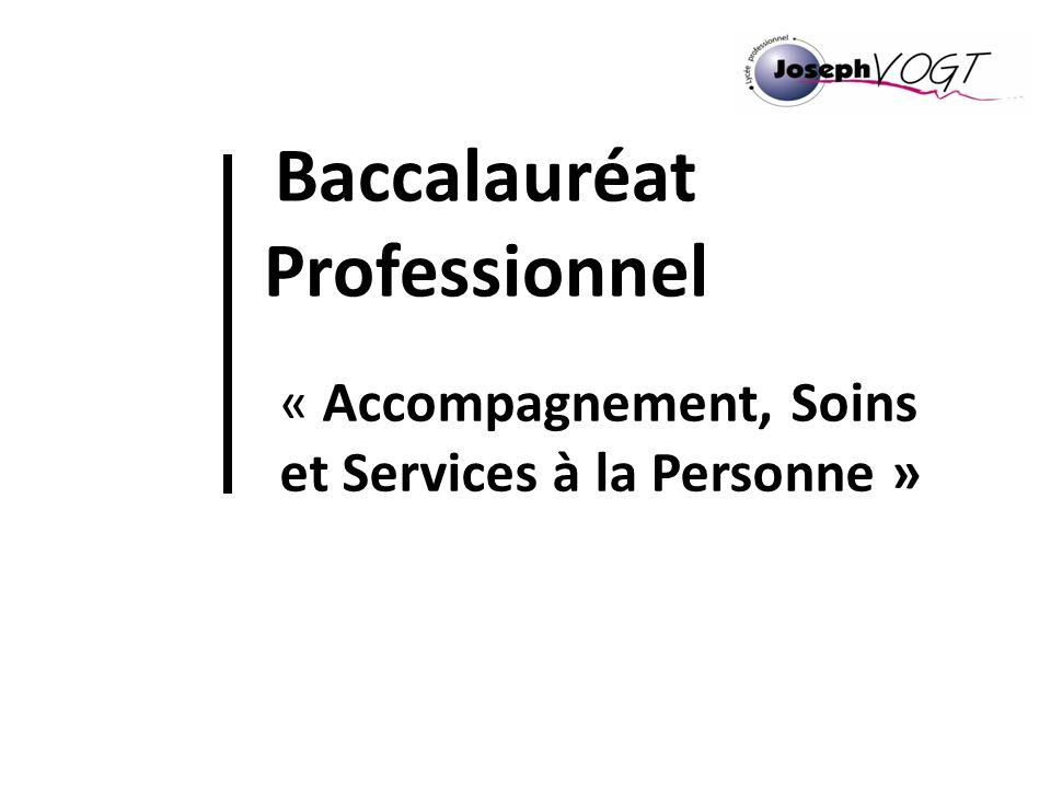 Baccalauréat Professionnel « Accompagnement, Soins et Services à la Personne »
