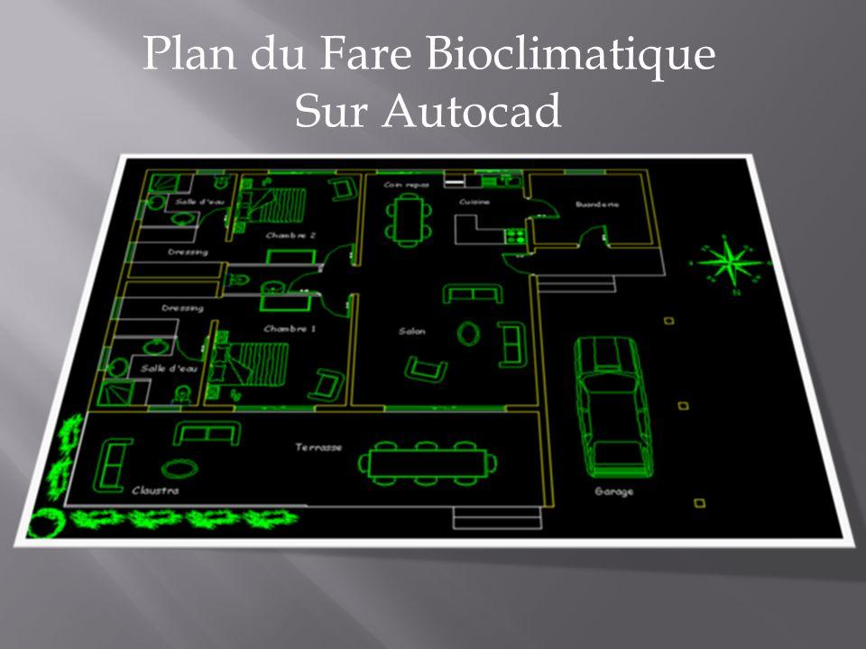 Plan du Fare Bioclimatique Sur Autocad