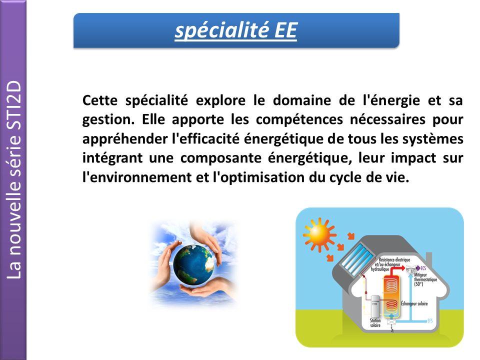 Cette spécialité explore le domaine de l énergie et sa gestion.