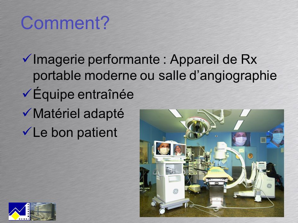 Early results in Henri Mondor: Surgery vs.