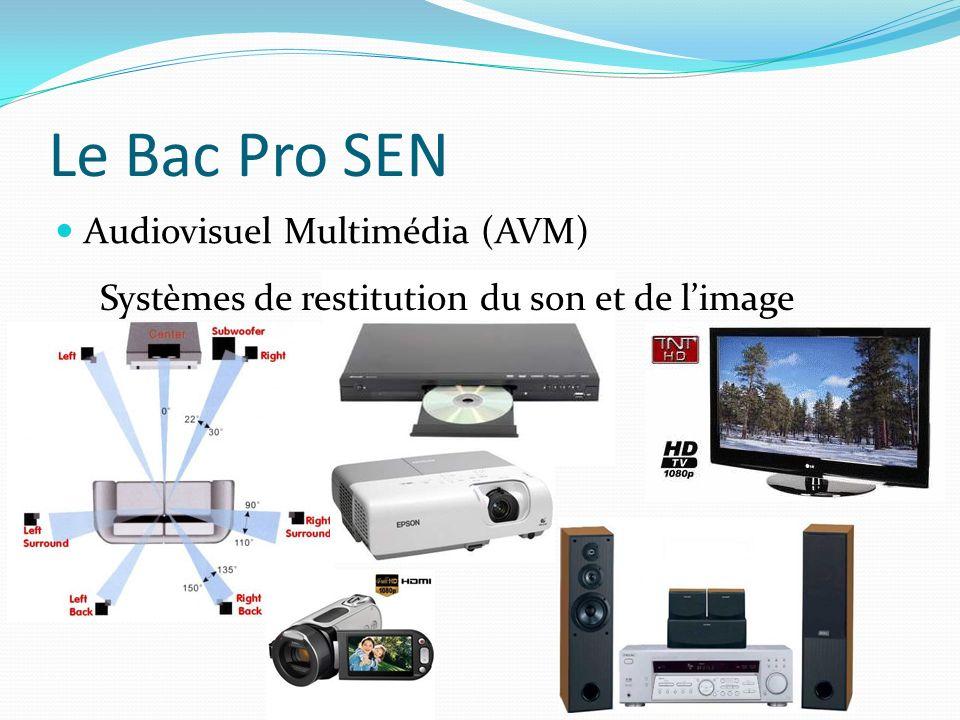 Le Bac Pro SEN Audiovisuel Multimédia (AVM) Systèmes de restitution du son et de limage