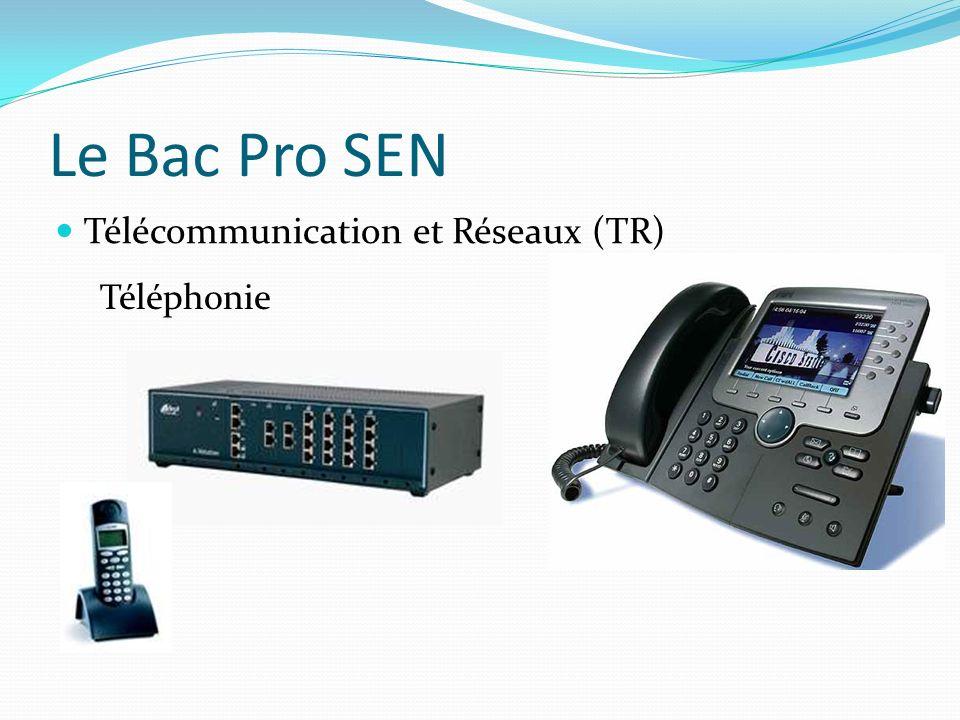 Le Bac Pro SEN Télécommunication et Réseaux (TR) Téléphonie