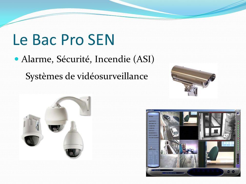 Le Bac Pro SEN Alarme, Sécurité, Incendie (ASI) Systèmes de vidéosurveillance