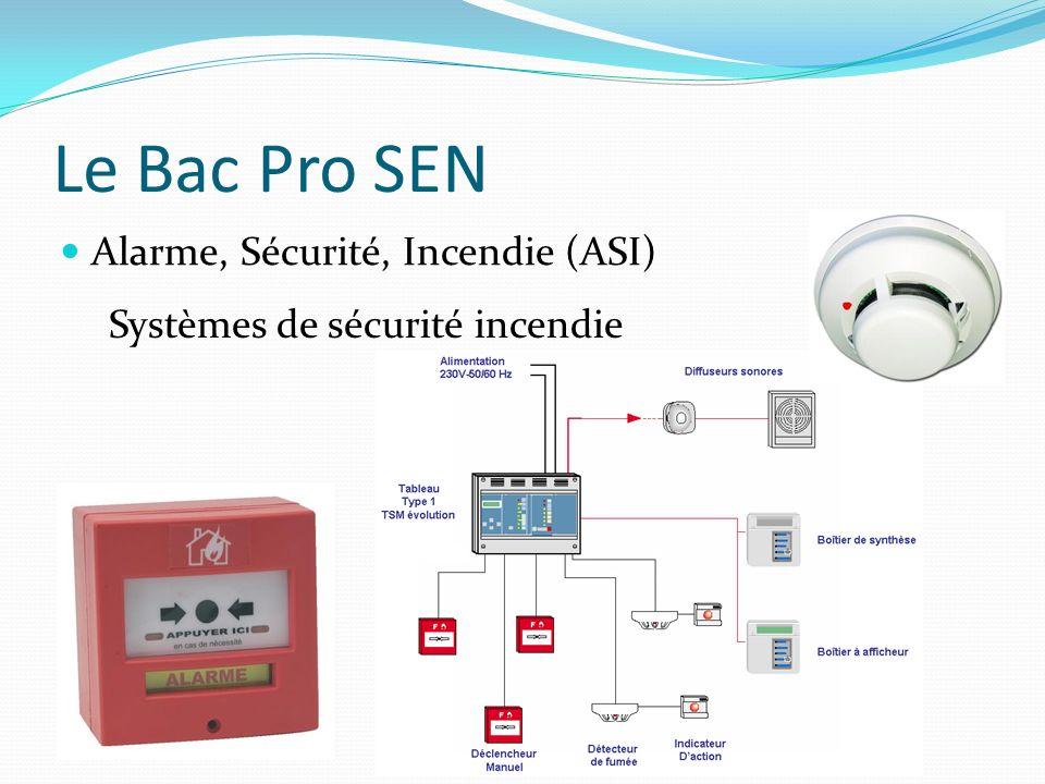 Le Bac Pro SEN Alarme, Sécurité, Incendie (ASI) Systèmes de sécurité incendie