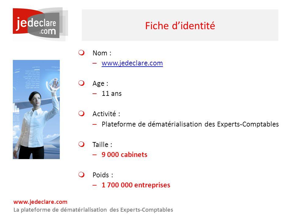 www.jedeclare.com La plateforme de dématérialisation des Experts-Comptables Fiche didentité Nom : – www.jedeclare.com www.jedeclare.com Age : – 11 ans