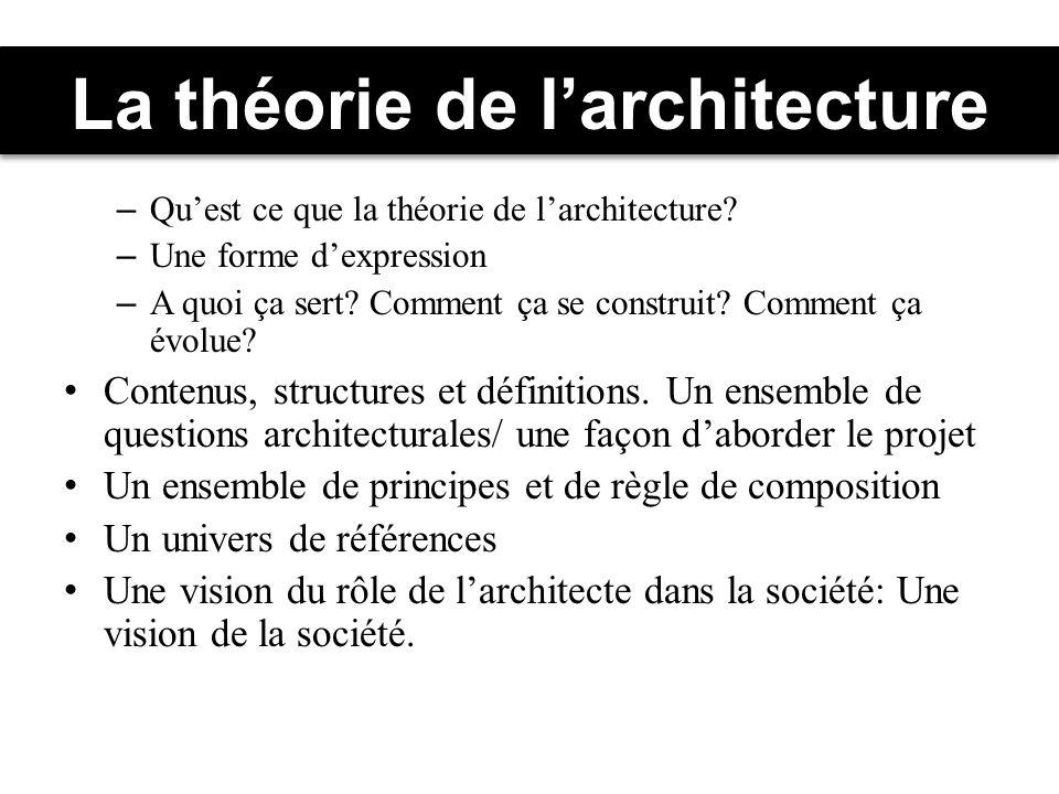 La théorie de larchitecture – Quest ce que la théorie de larchitecture.