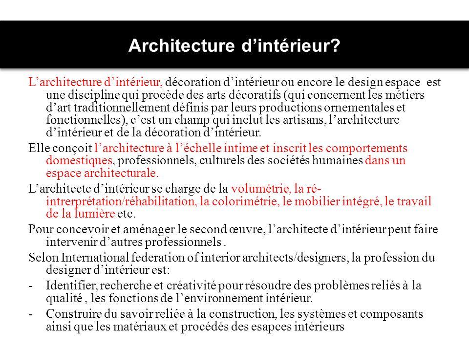 Architecture dintérieur.