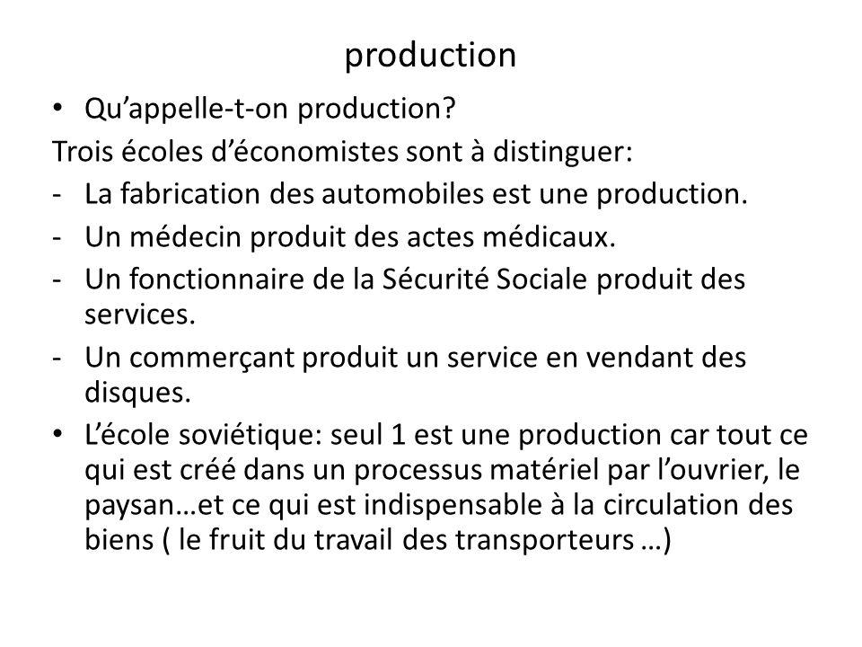 production Quappelle-t-on production.