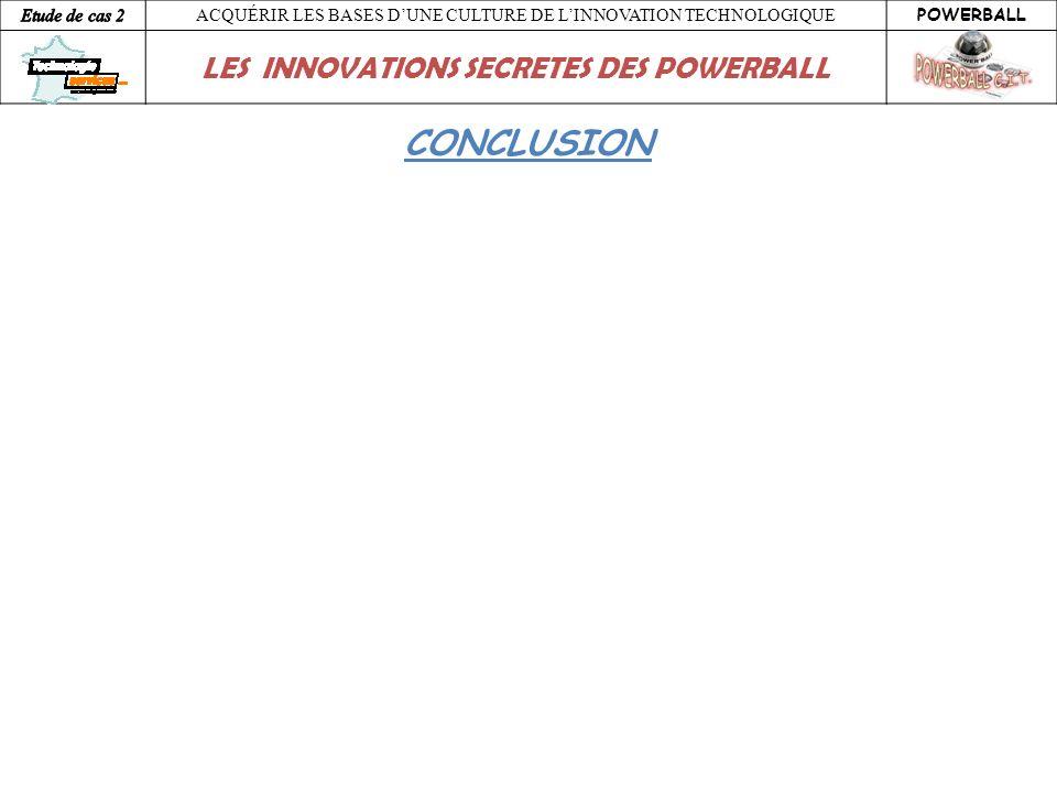 ACQUÉRIR LES BASES DUNE CULTURE DE LINNOVATION TECHNOLOGIQUE POWERBALL LES INNOVATIONS SECRETES DES POWERBALL CONCLUSION