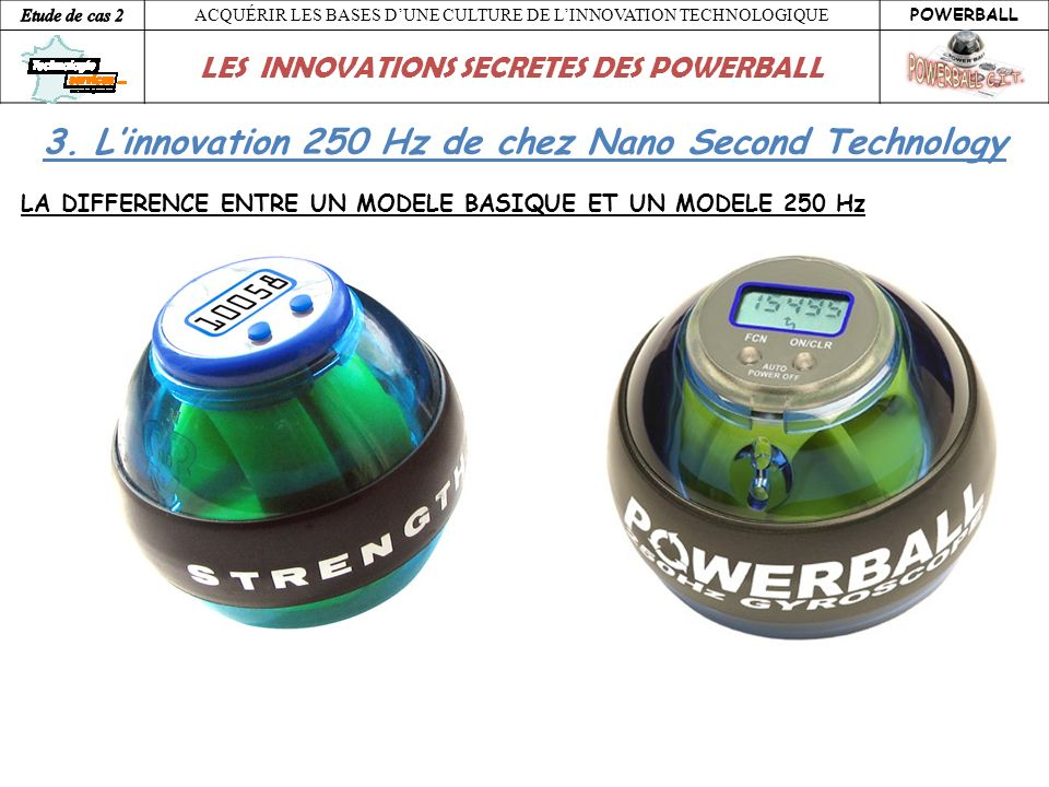 ACQUÉRIR LES BASES DUNE CULTURE DE LINNOVATION TECHNOLOGIQUE POWERBALL LES INNOVATIONS SECRETES DES POWERBALL 3. Linnovation 250 Hz de chez Nano Secon
