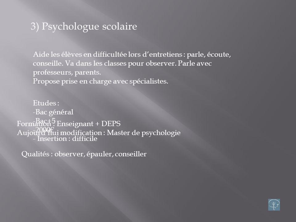 2) Psychanalyste Thérapeute utilisant cure psychanalytique : explorer linconscient et résoudre les conflits intérieur. Syn.: psychothérapeute Etudes: