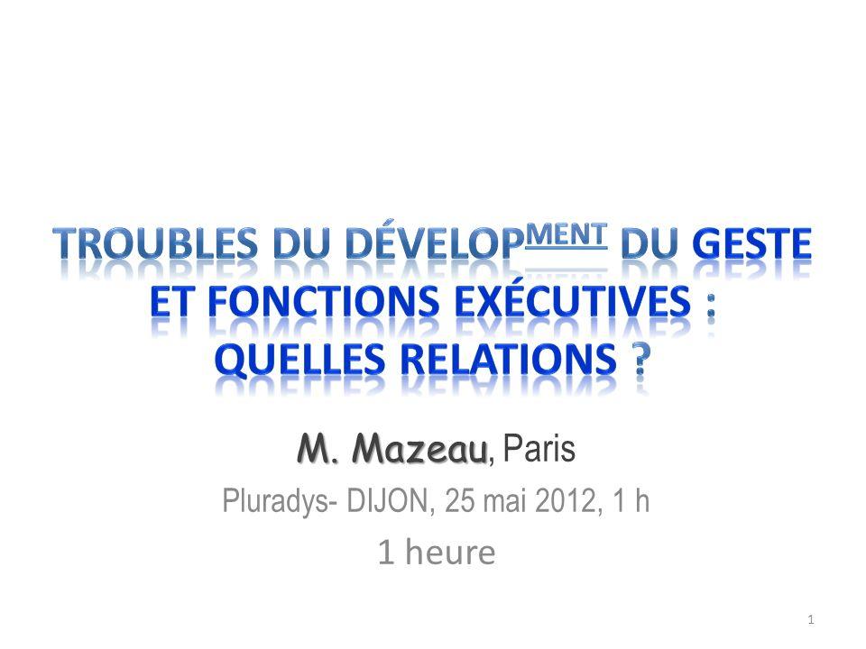 M. Mazeau M. Mazeau, Paris Pluradys- DIJON, 25 mai 2012, 1 h 1 heure 1