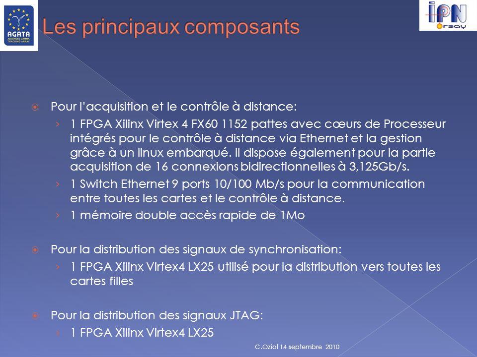 Pour lacquisition et le contrôle à distance: 1 FPGA Xilinx Virtex 4 FX60 1152 pattes avec cœurs de Processeur intégrés pour le contrôle à distance via