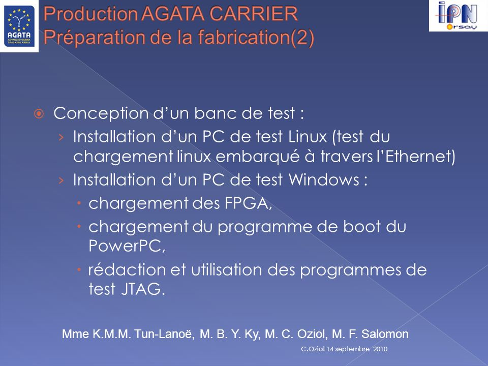 Conception dun banc de test : Installation dun PC de test Linux (test du chargement linux embarqué à travers lEthernet) Installation dun PC de test Wi