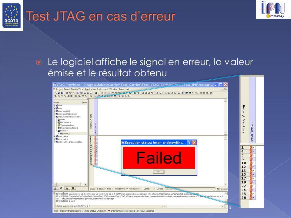 C.Oziol 14 septembre 2010 Le logiciel affiche le signal en erreur, la valeur émise et le résultat obtenu