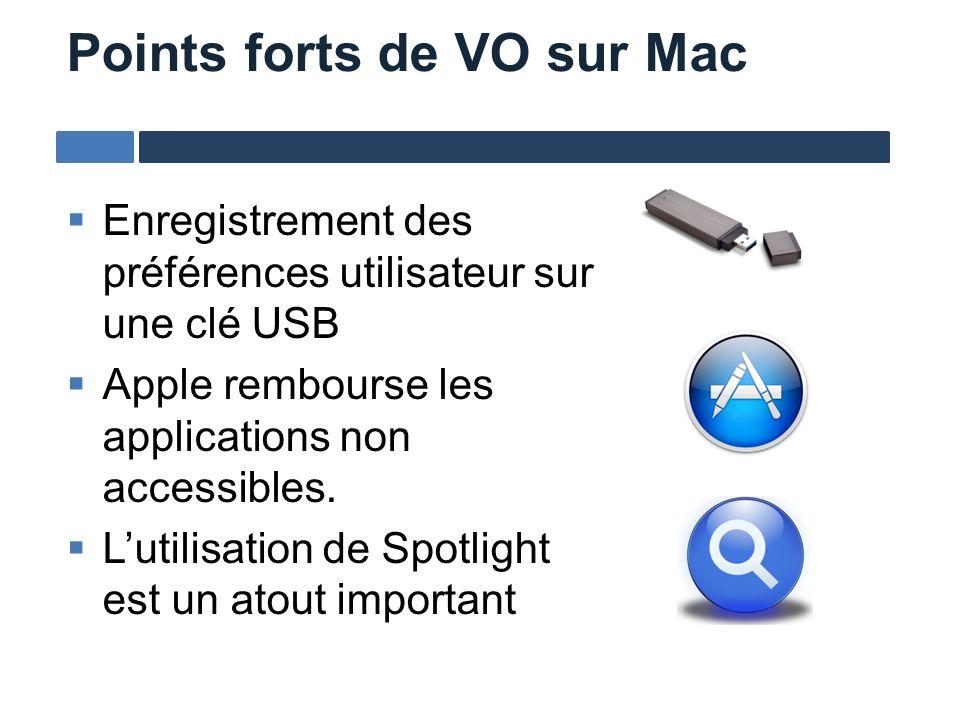 Enregistrement des préférences utilisateur sur une clé USB Apple rembourse les applications non accessibles. Lutilisation de Spotlight est un atout im