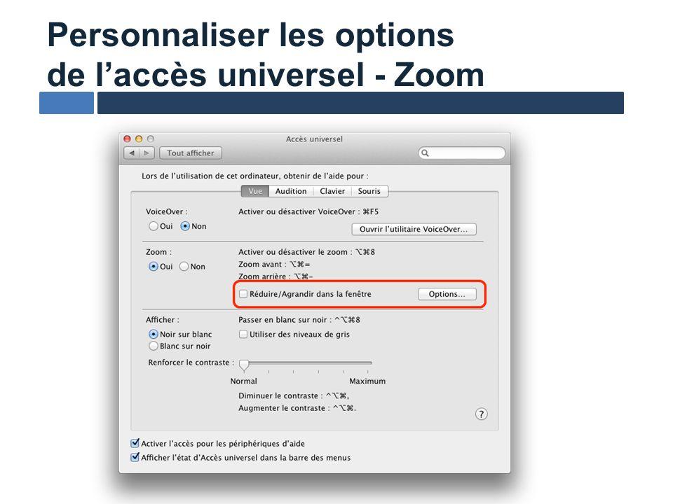 L échange de données n est pas garanti d une plate-forme à l autre Laffichage braille est trop verbeux Nouvelle approche déroutante au début (nouvel apprentissage) Points faibles de VO sur Mac