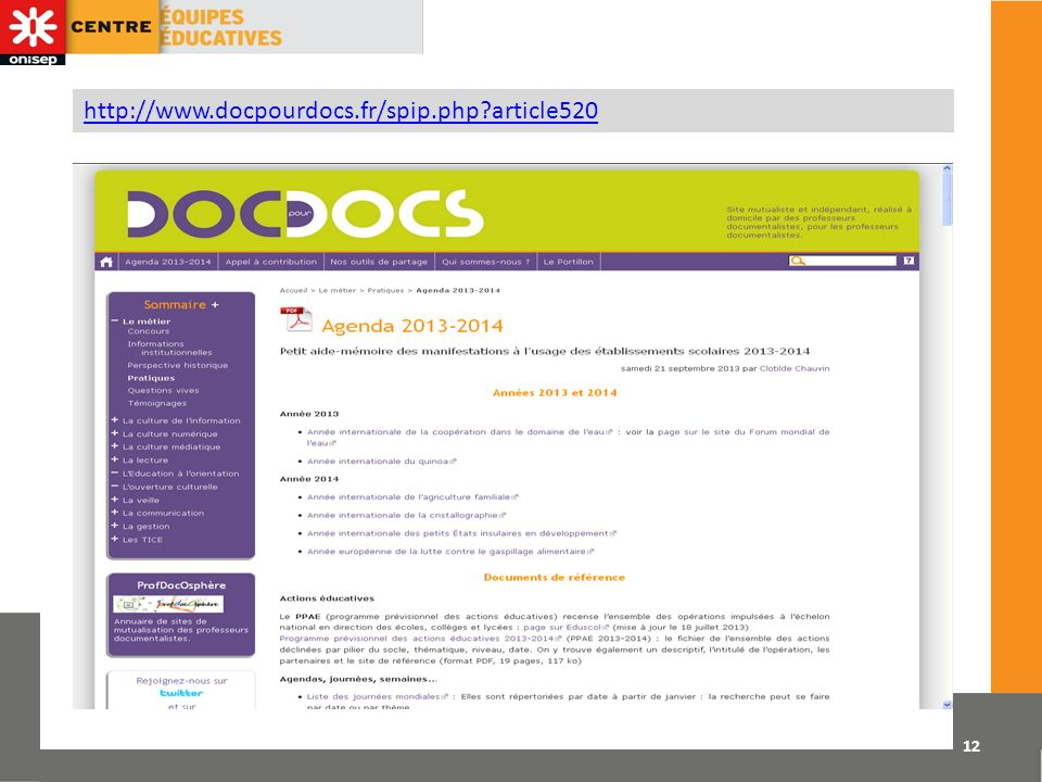 12 http://www.docpourdocs.fr/spip.php?article520