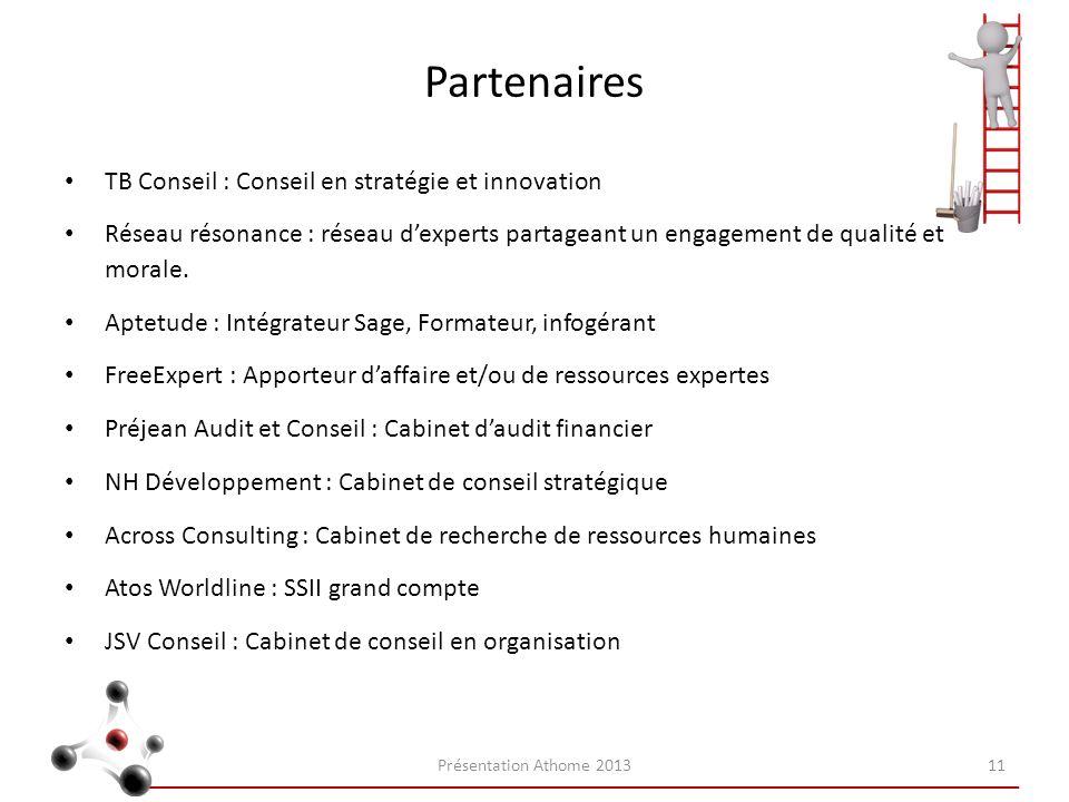Partenaires TB Conseil : Conseil en stratégie et innovation Réseau résonance : réseau dexperts partageant un engagement de qualité et morale. Aptetude