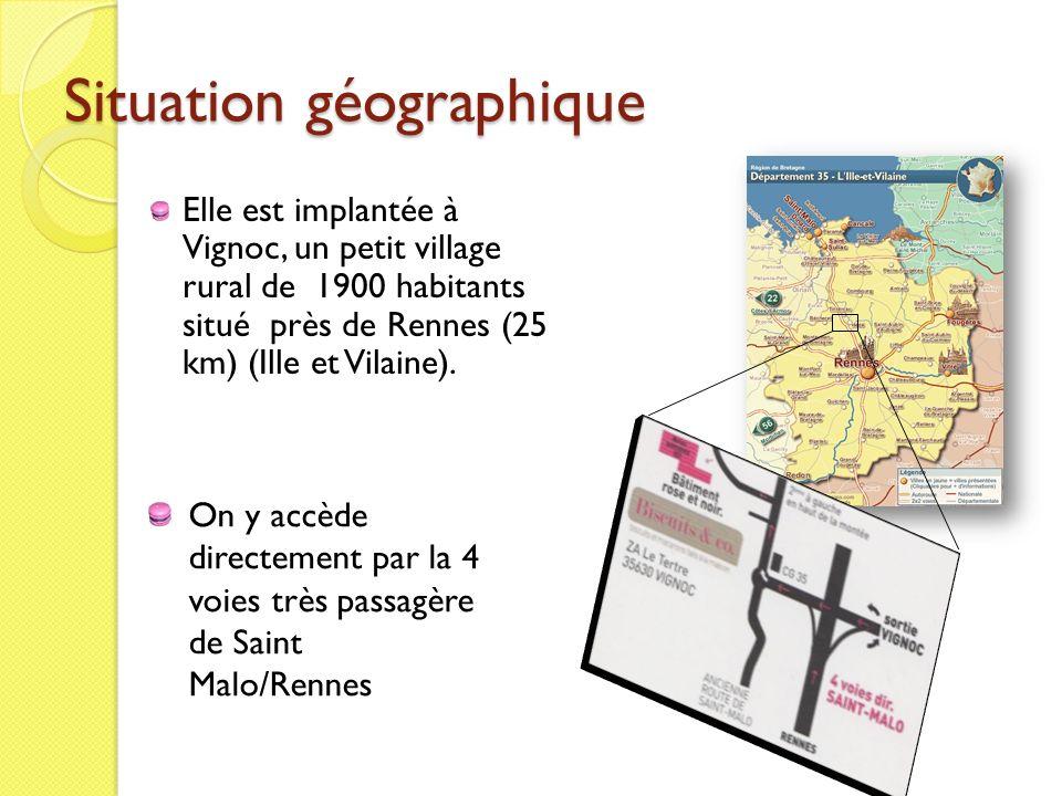 Situation géographique Elle est implantée à Vignoc, un petit village rural de 1900 habitants situé près de Rennes (25 km) (Ille et Vilaine). On y accè