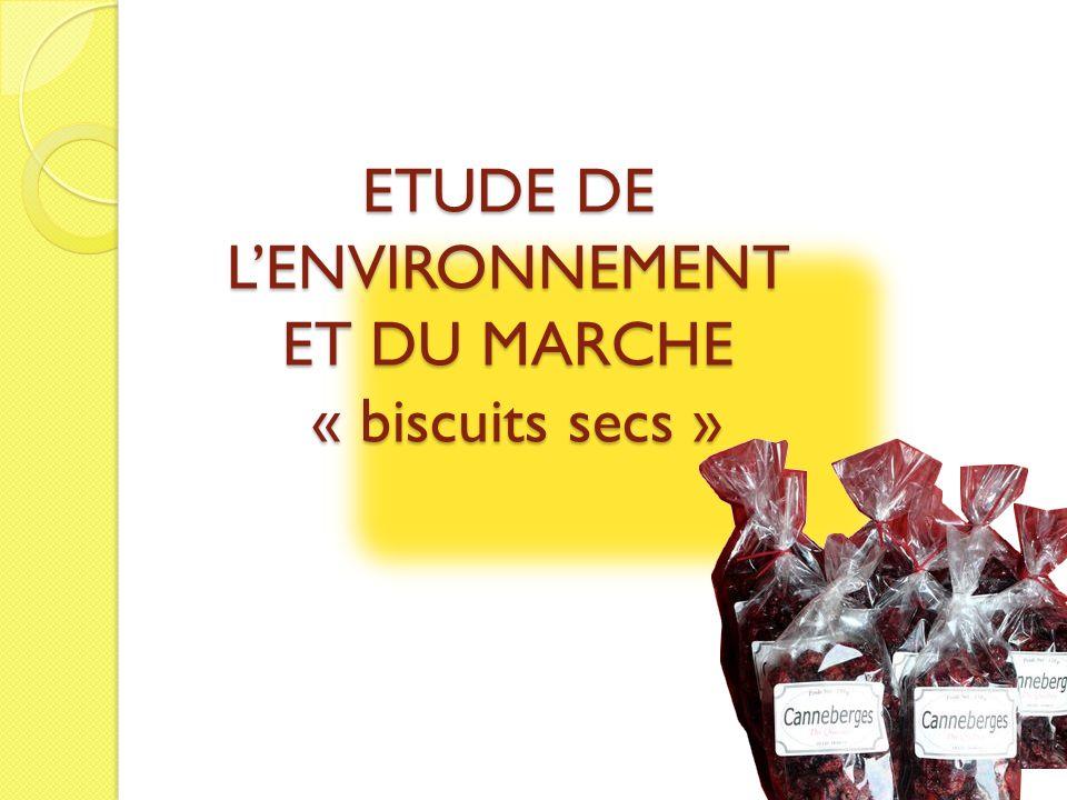 ETUDE DE LENVIRONNEMENT ET DU MARCHE « biscuits secs »