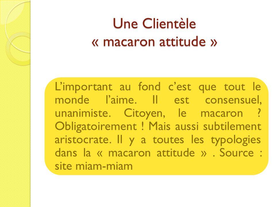 Une Clientèle « macaron attitude » Limportant au fond cest que tout le monde laime. Il est consensuel, unanimiste. Citoyen, le macaron ? Obligatoireme