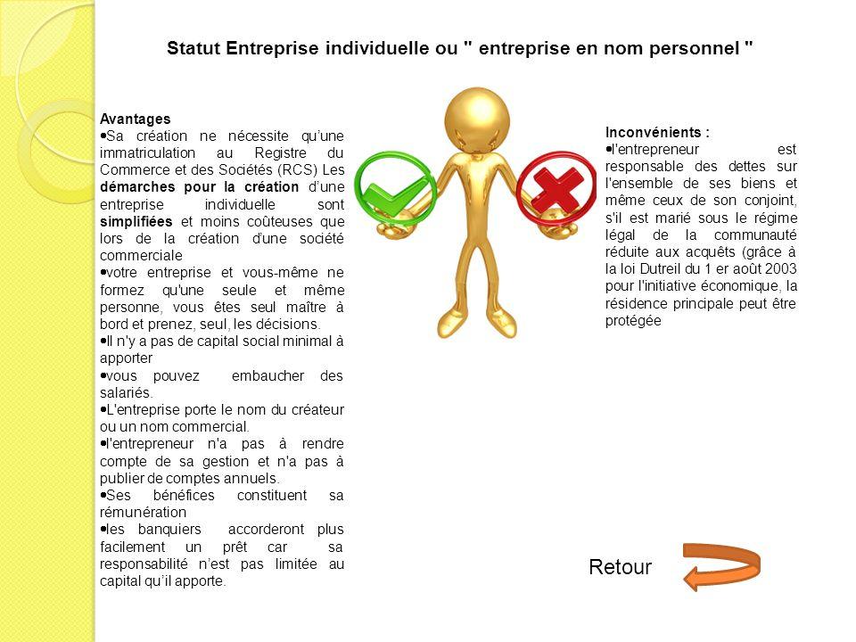 Avantages Sa création ne nécessite quune immatriculation au Registre du Commerce et des Sociétés (RCS) Les démarches pour la création dune entreprise