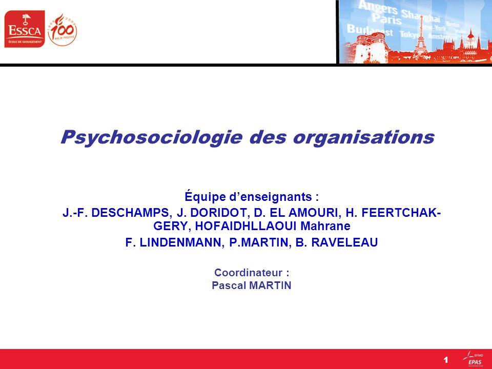 Équipe denseignants : J.-F. DESCHAMPS, J. DORIDOT, D. EL AMOURI, H. FEERTCHAK- GERY, HOFAIDHLLAOUI Mahrane F. LINDENMANN, P.MARTIN, B. RAVELEAU Coordi