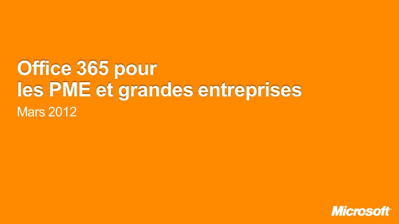 Office 365 pour les PME et grandes entreprises