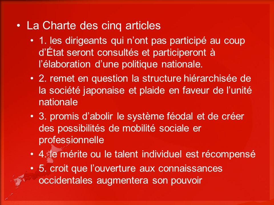 La Charte des cinq articles 1.