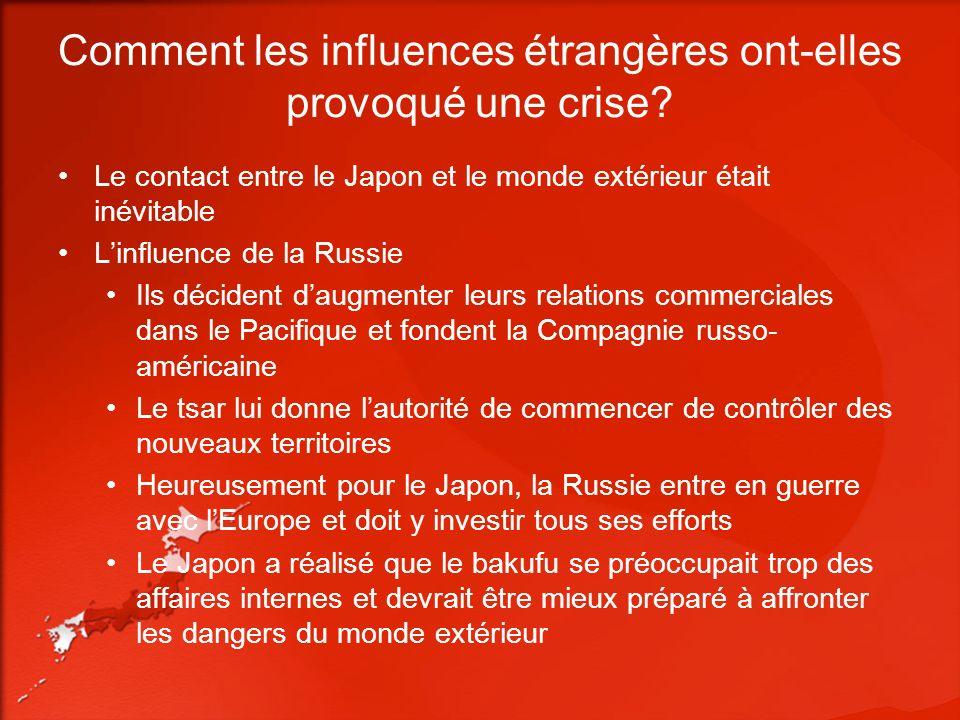 Comment les influences étrangères ont-elles provoqué une crise.