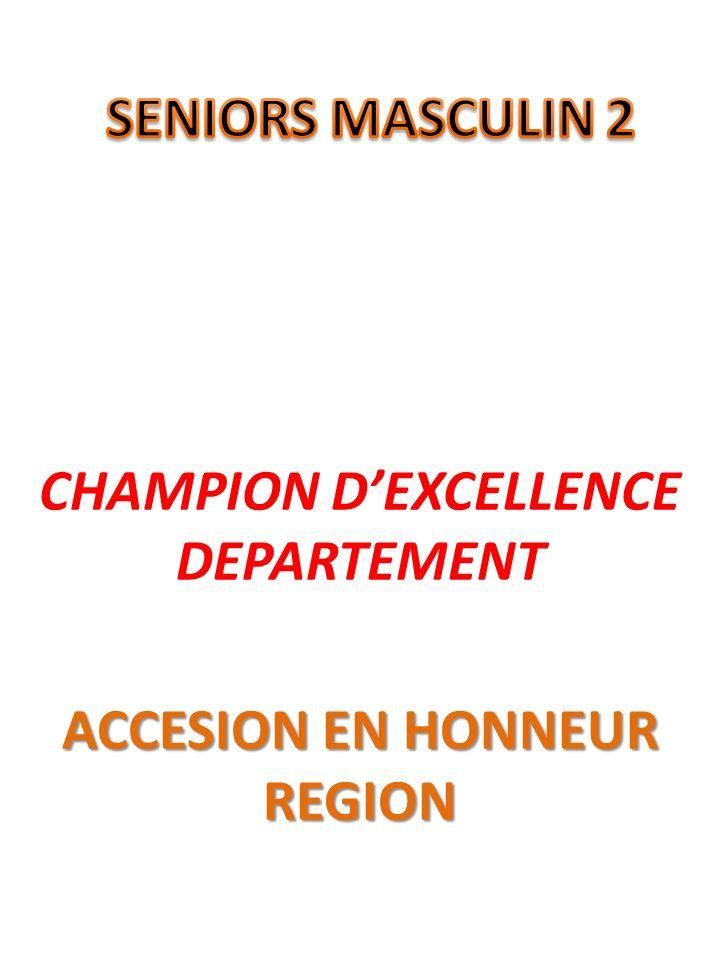 CHAMPION DEXCELLENCE DEPARTEMENT ACCESION EN HONNEUR REGION