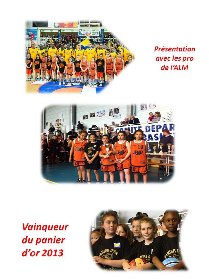 Présentation avec les pro de lALM Vainqueur du panier dor 2013