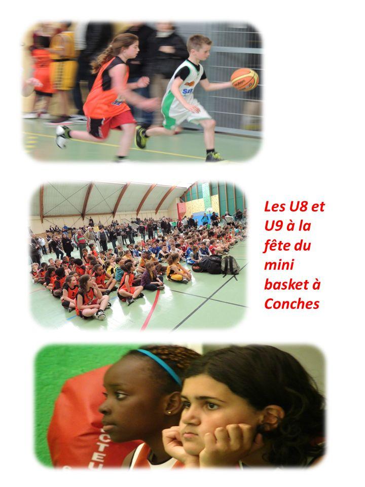 Les U8 et U9 à la fête du mini basket à Conches
