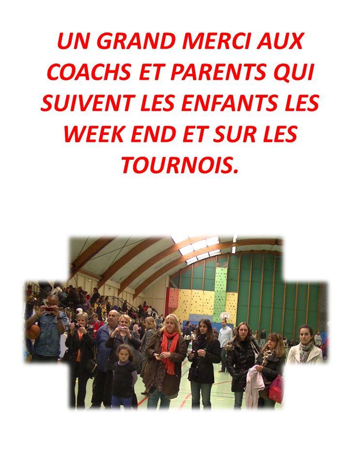 UN GRAND MERCI AUX COACHS ET PARENTS QUI SUIVENT LES ENFANTS LES WEEK END ET SUR LES TOURNOIS.