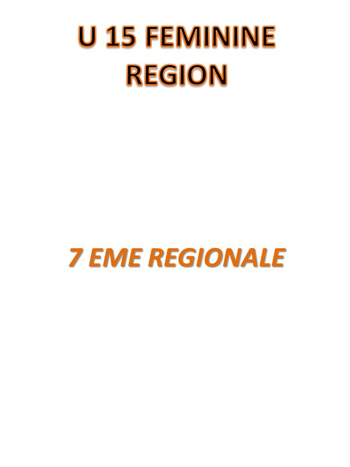 7 EME REGIONALE