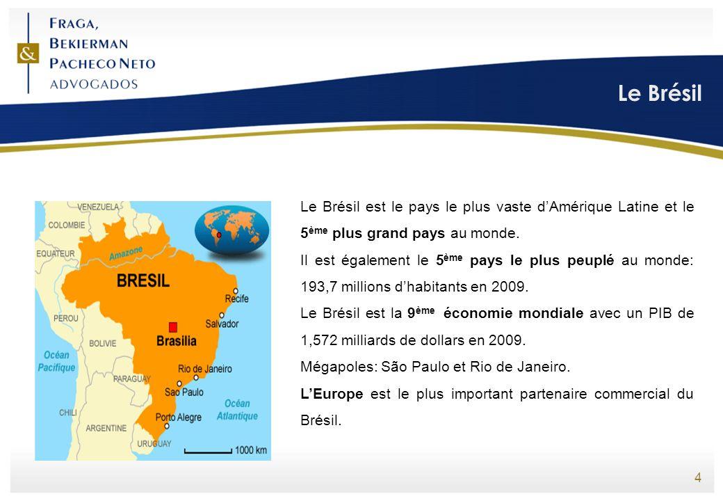 Le Brésil 4 Le Brésil est le pays le plus vaste dAmérique Latine et le 5 ème plus grand pays au monde. Il est également le 5 ème pays le plus peuplé a