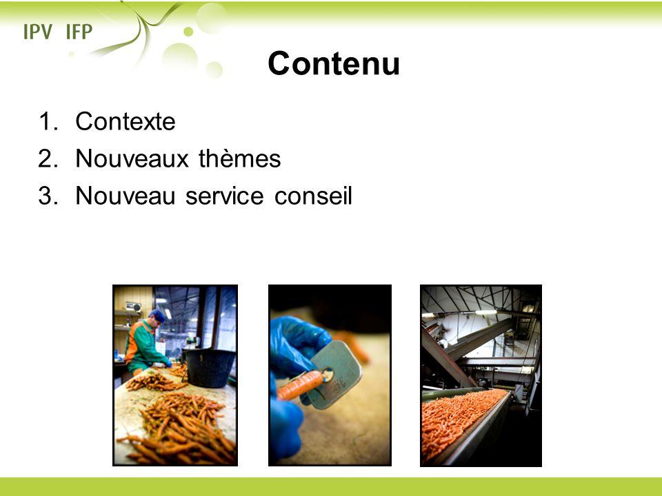 1.Contexte 2.Nouveaux thèmes 3.Nouveau service conseil Contenu