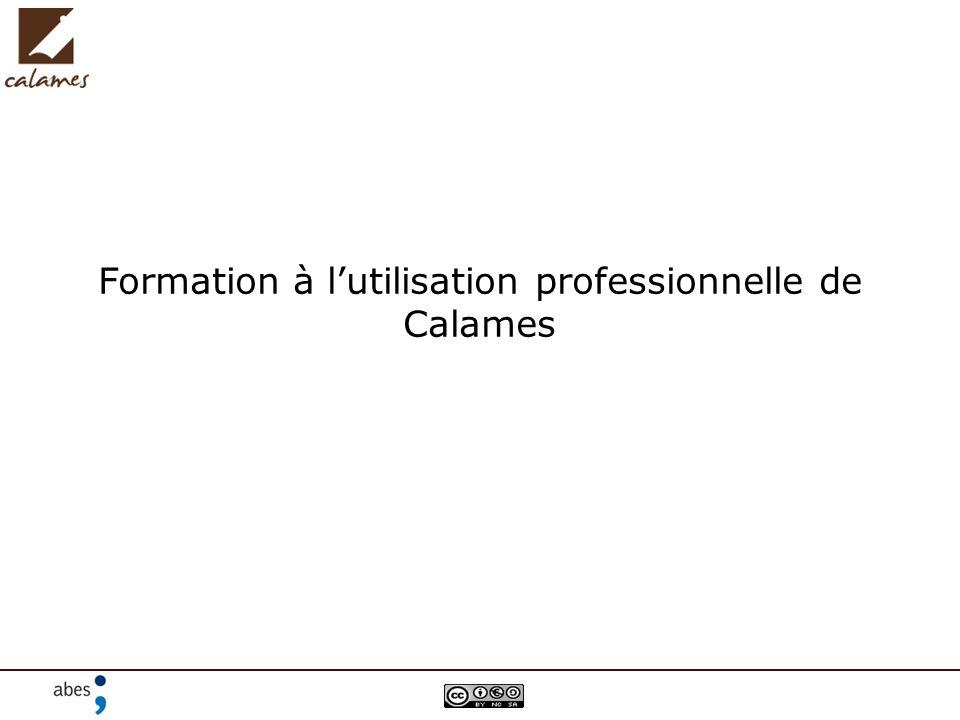 Formation à lutilisation professionnelle de Calames
