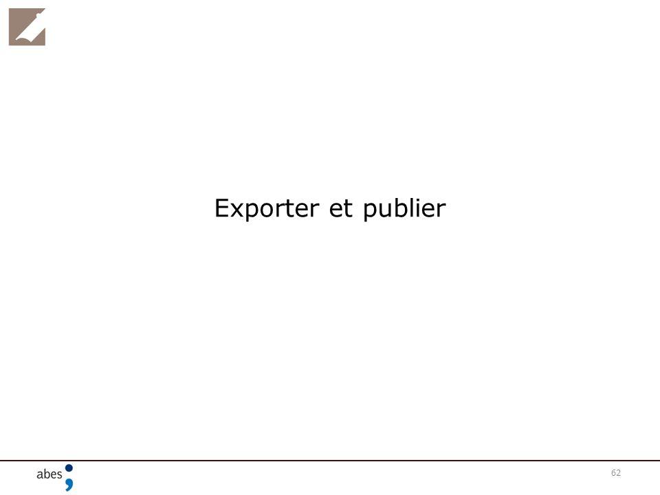 62 Exporter et publier