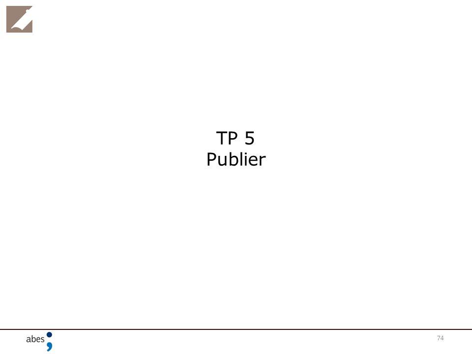 74 TP 5 Publier
