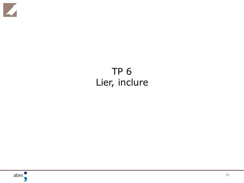 84 TP 6 Lier, inclure