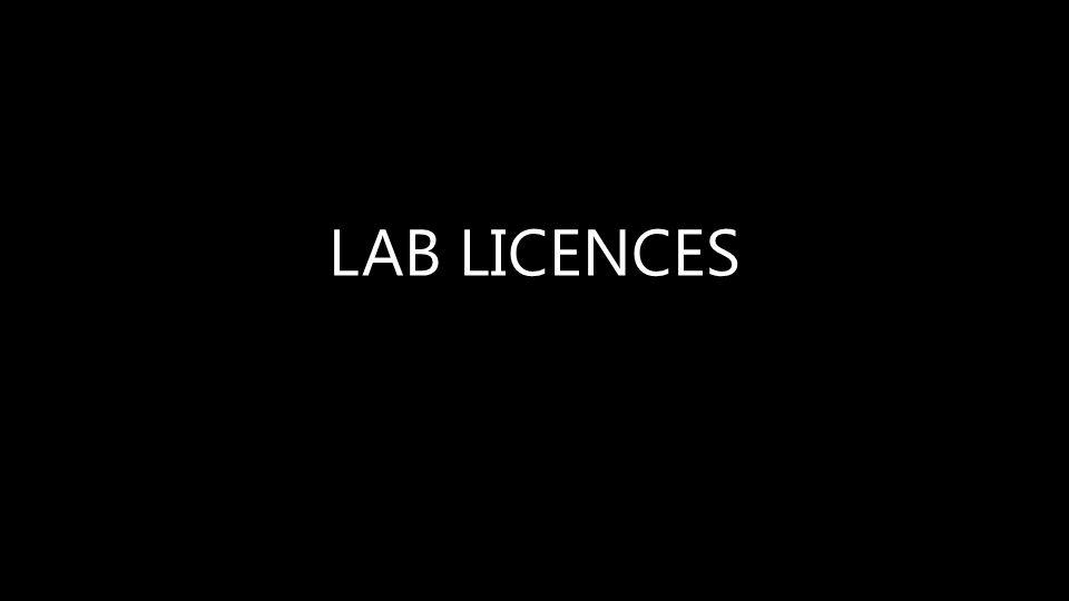 LAB LICENCES