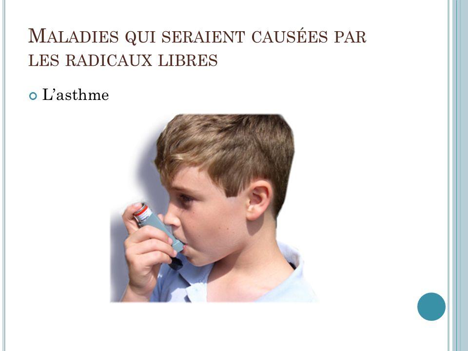 M ALADIES QUI SERAIENT CAUSÉES PAR LES RADICAUX LIBRES Lasthme