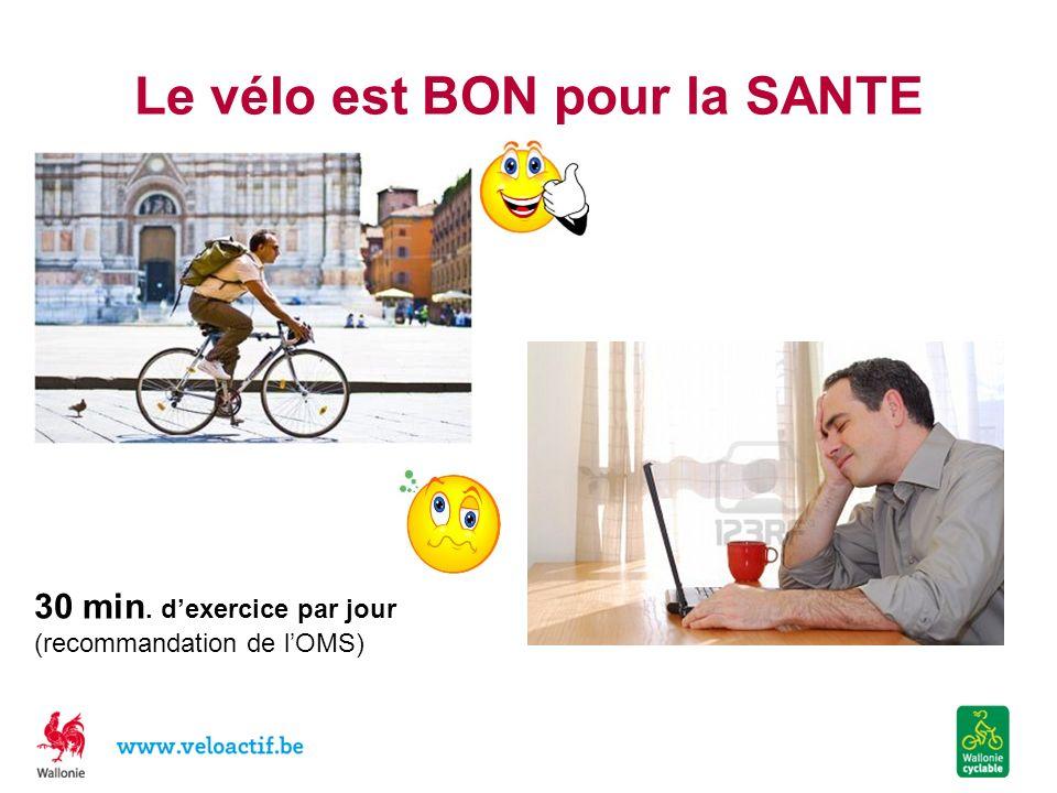 Le vélo est BON pour la SANTE 30 min. dexercice par jour (recommandation de lOMS)